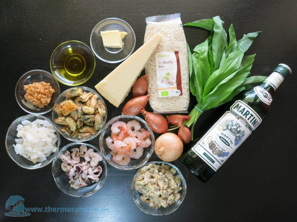 Meeresfrüchte-Risotto mit Bärlauch