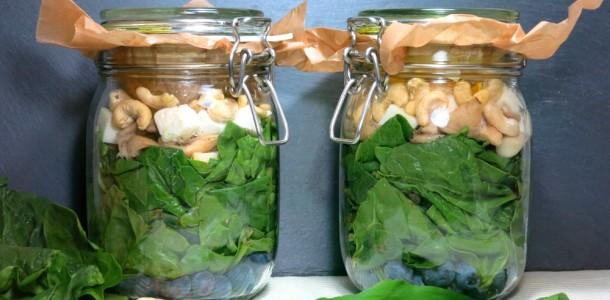 Spinat Blaubeeren Salat