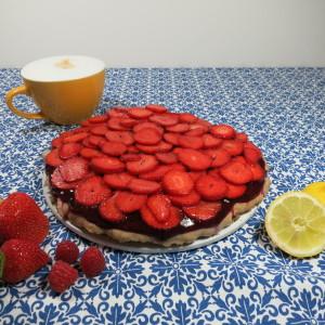 Cream-Lemon-Cake mit Erdbeeren